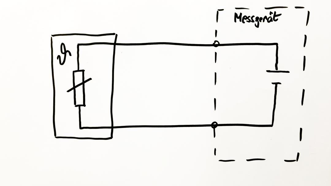Skizze Pt100 in Zweileiter-Schaltung