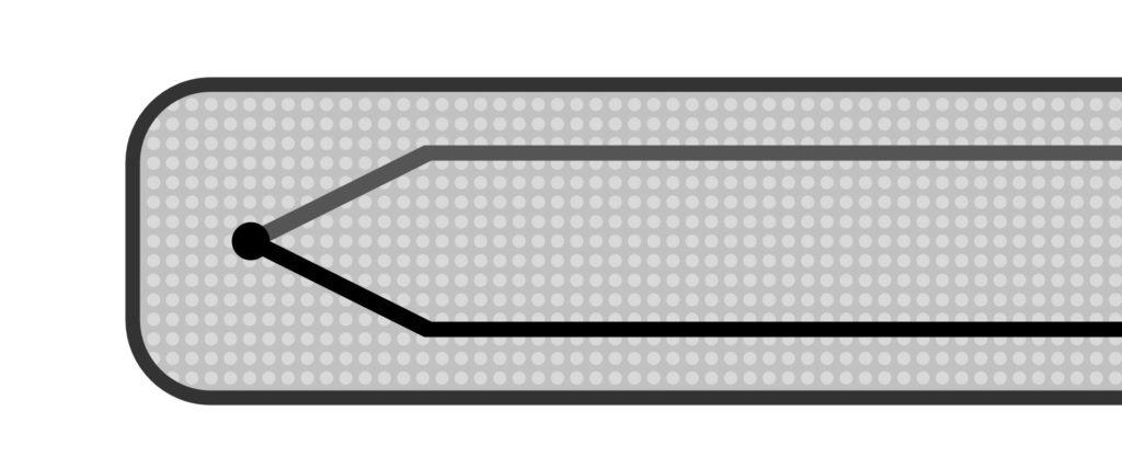 Ungeerdetes / isoliertes Mantel-Thermoelement im Längsschnitt
