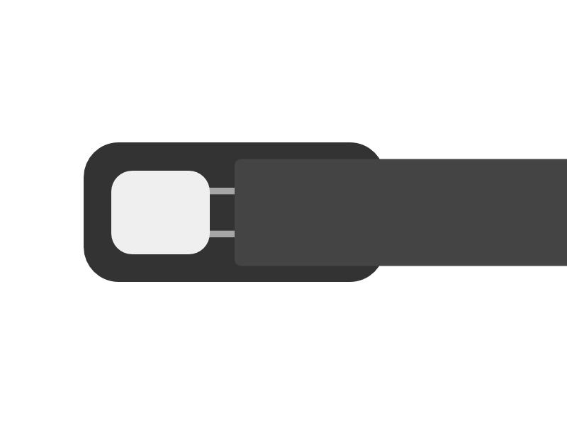 TPE-Kabeltemperaturfühler, bei dem das Messelement direkt mit Thermoplast (Kunststoff) umspritzt ist. Dieser Aufbau ist dauerhaft dicht und zuverlässig.